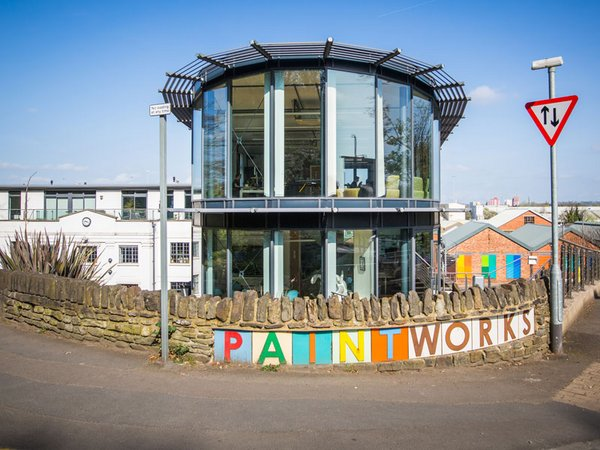 Paintworks entrance and buildings