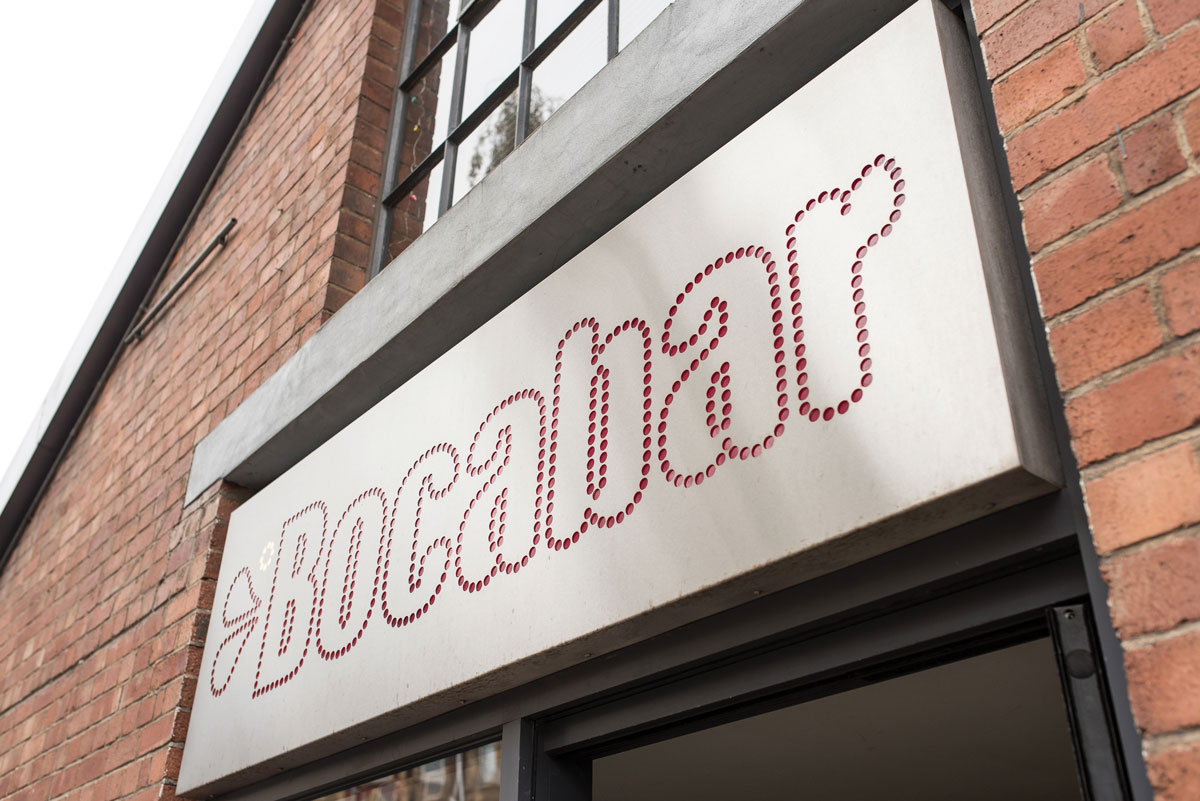 Bocabar sign Paintworks, Bristol