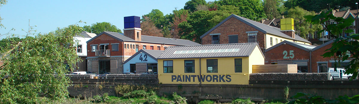 View over the river,  Paintworks, Bristol