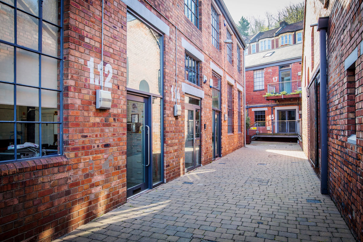 Redbrick converted buildings at Paintworks, Bristol