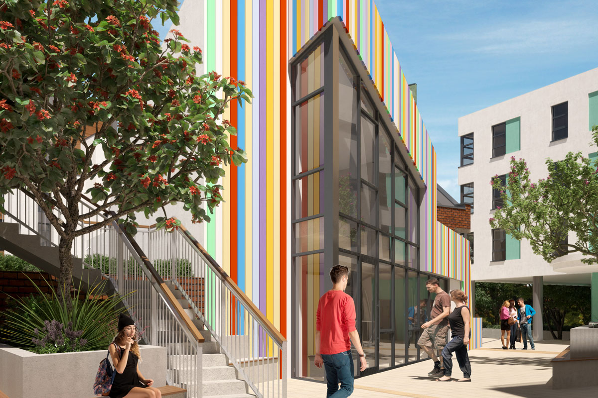 CAD illustration of the Stripey Building, Phase 3, Paintworks, Bristol