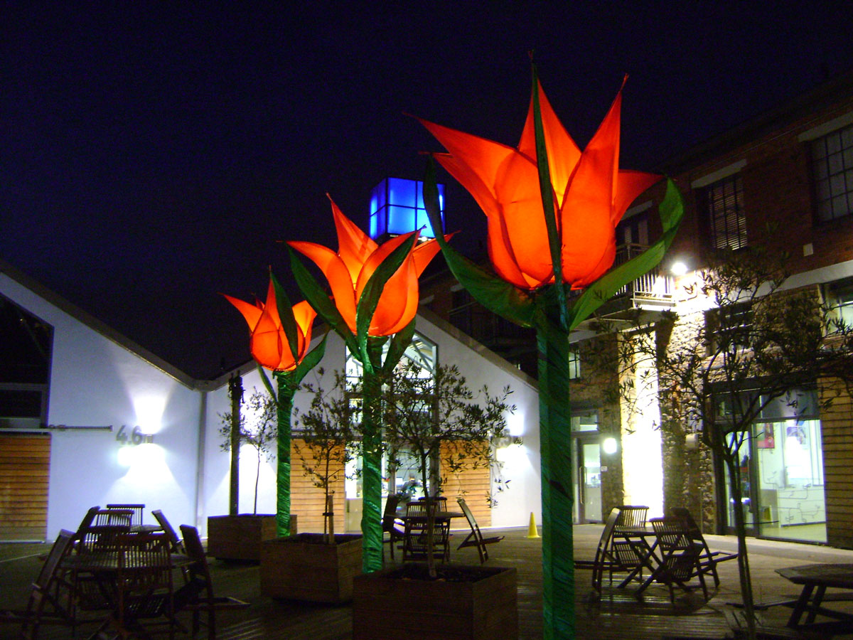 Tulip installation, main courtyard