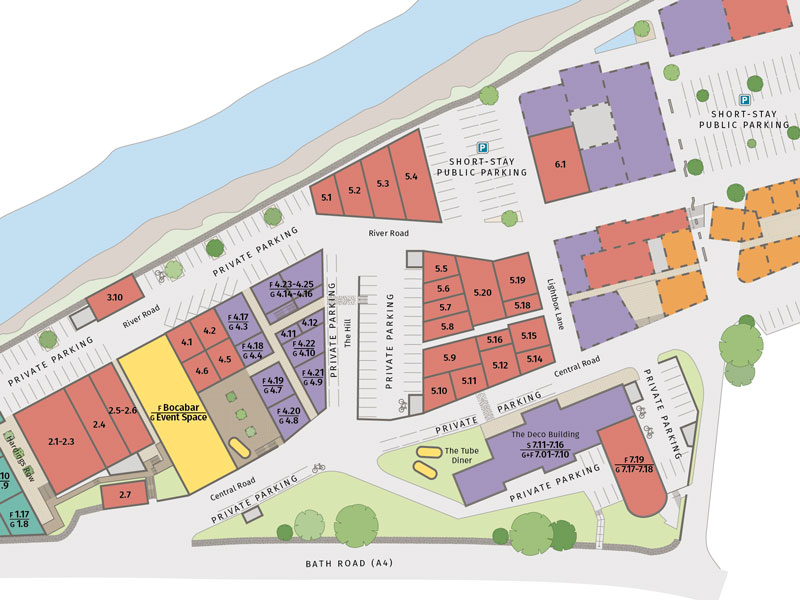 Interactive site plan for Paintworks, Bristol Paintworks, Bristol