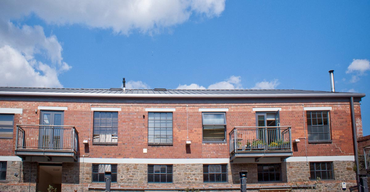 Residential apartments in converted industrial buildings Paintworks, Bristol